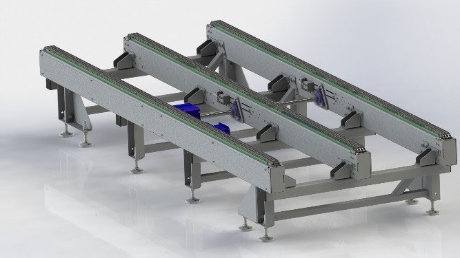 Heavy-duty conveyors for pallet transport