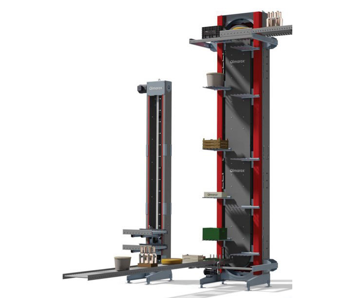 Elevators for high-speed pallet lifting